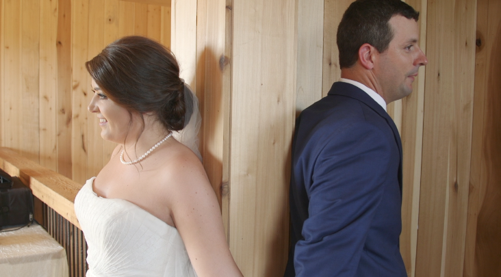 Bride and groom Pray together before wedding - videography