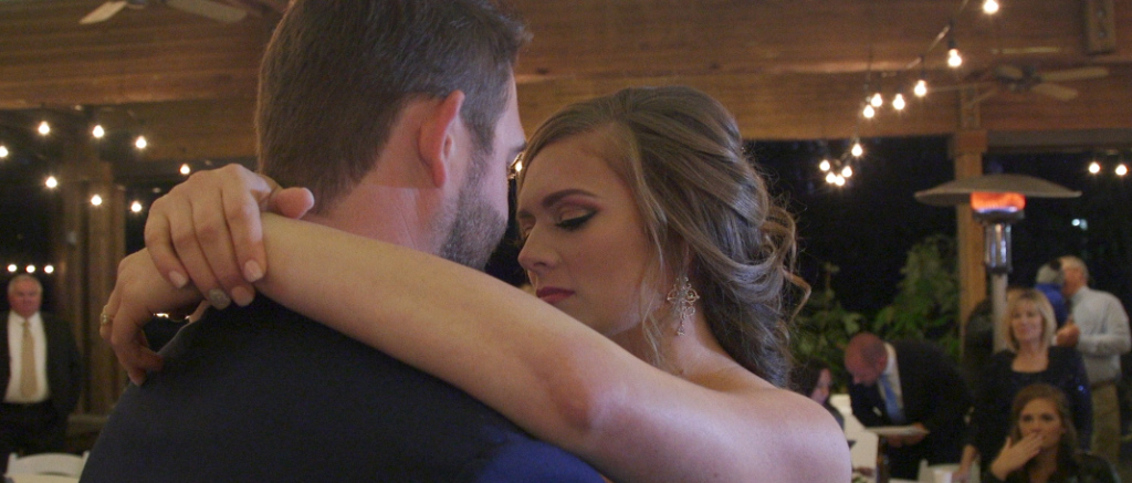 Bride and Groom Wedding Videography at Aldridge Gardens / bride and groom first dance caught on video in hoover, alabama